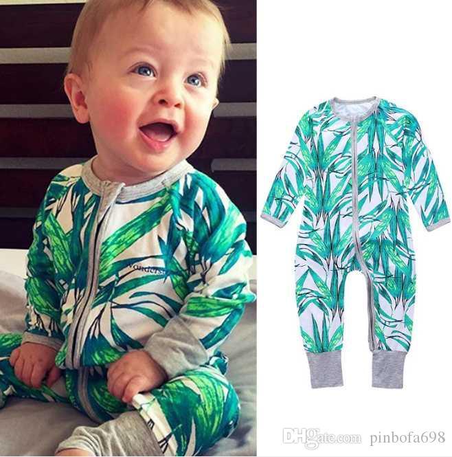 2020 sonbahar ve kış yeni doğan bebek kıyafetleri bebek uzun kollu kot karikatür desen eğik yaka kravat rengi pamuk bebek yapışık giysiler