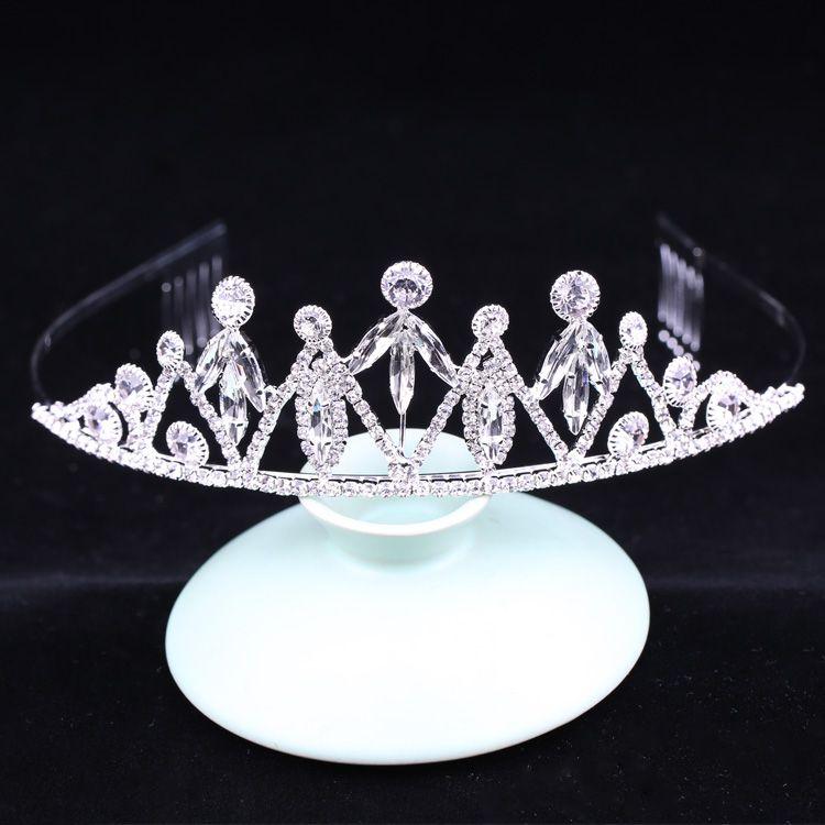 Kristallrhinestone Kupfer Prinzessin Custom Crowns Brautdekor Hochzeit Tiaras für Bräute Tiara Xulin Fjba -5