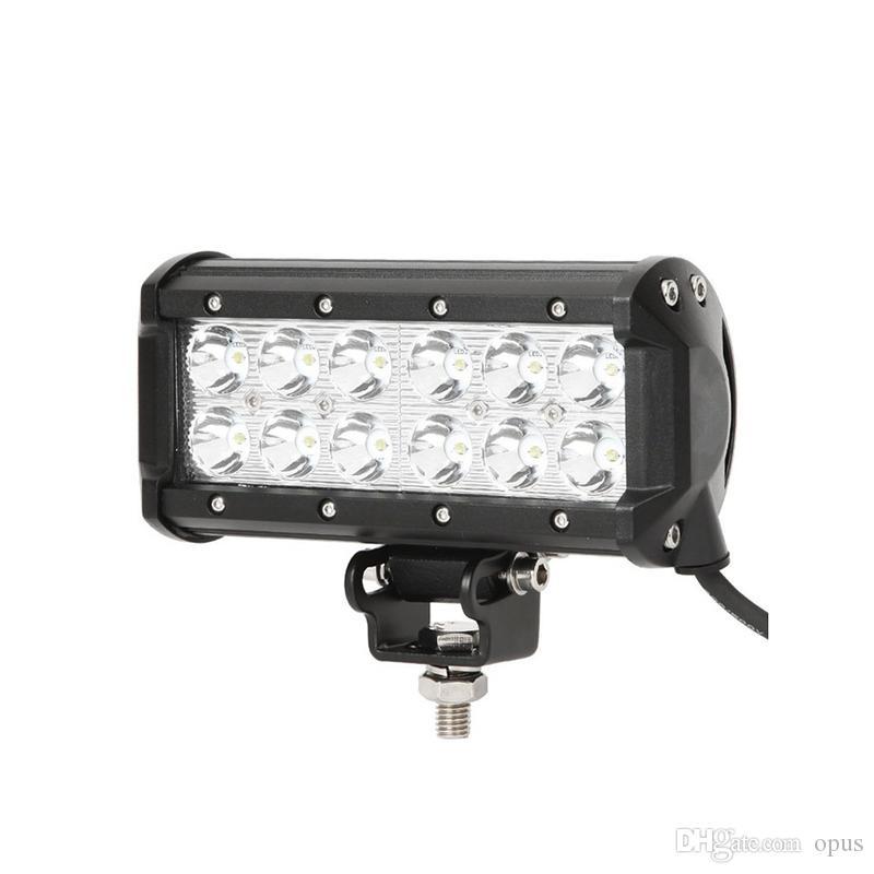 """4pcs 7"""" 36W luce di illuminazione LED del lavoro barra 3600lm CREE 30 gradi Spot di lavoro per Heavy Duty auto SUV Jeep UTV Truck Off-Road"""
