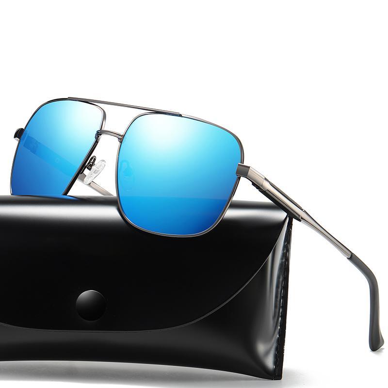 Lunettes de soleil carrées lunettes de soleil pour soleil printemps unisexe lunettes polarisées de couple de couple de conduite voiture lunettes de soleil lunettes de soleil anti-éblouissement EKCQB