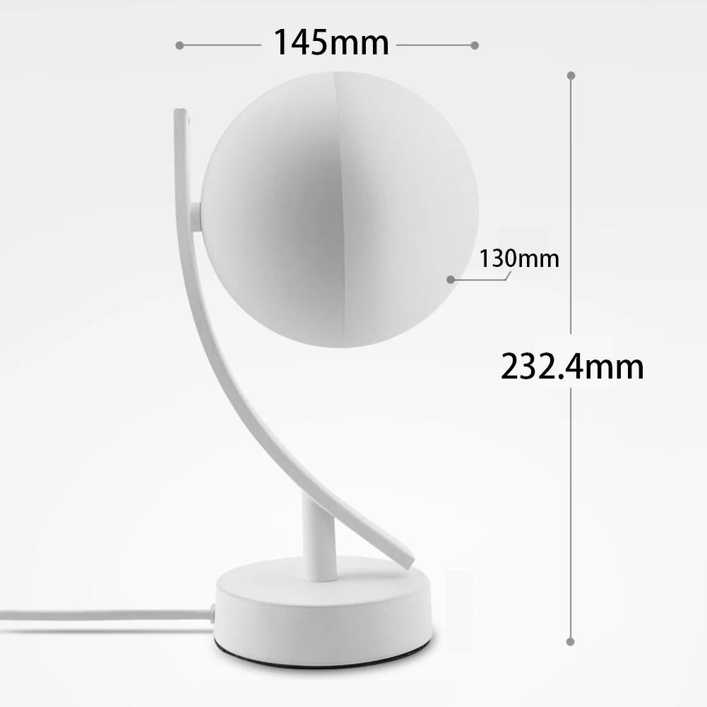 Ronda de noche dormitorio múltiple inteligente de escritorio remoto Led noche de la luna Tabla lámpara de luz regulable Control de voz Jk0179