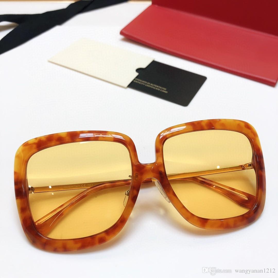 Ultime popolare di vendita della moda 0402 donne degli occhiali da sole da uomo occhiali da sole degli uomini degli occhiali da sole Occhiali da sole occhiali da sole di alta qualità UV400 obiettivo con scatola