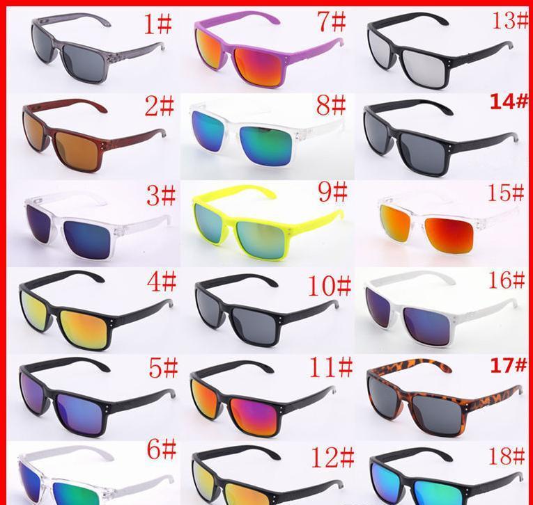 Gafas de sol de protección UV400 de lujo 9102 Shade Deporte Gafas de sol mujeres de los hombres unisex del verano Gafas ciclo al aire libre del sol de cristal de 18 colores