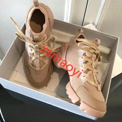 spring autumn designer woman casual shoes hococal fashion flowers lace sports shoes printing lace thick bottom luxury lady Walking shoes siz