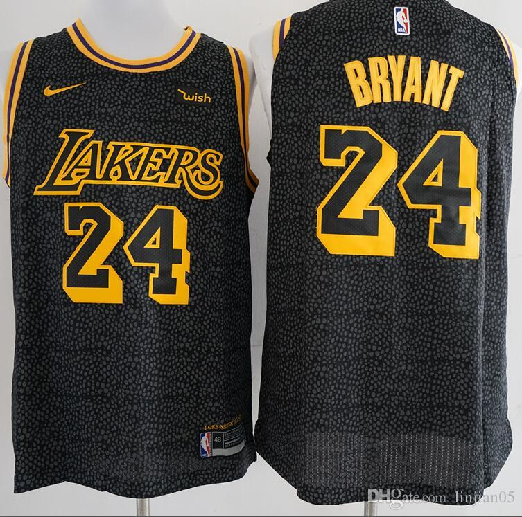brand new f342b cd522 2019 Basketball Served The Los Angeles Lakers 24 Bryant Jersey James Kurtz  Horse Black Mamba Men'S And Women'S Sports Vest From Cuicui22, $29.45 | ...