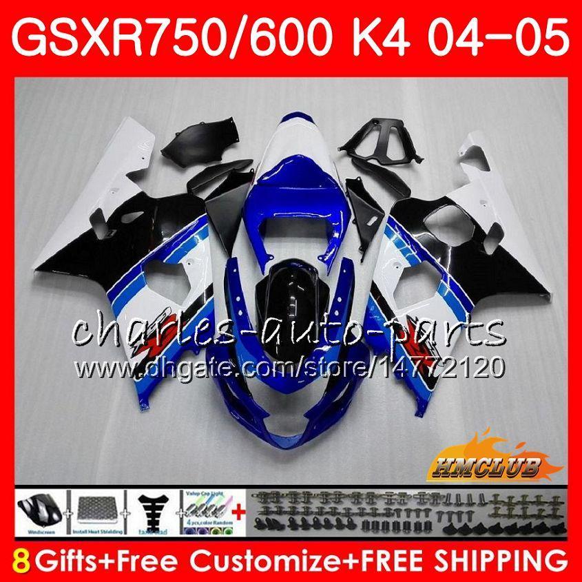 Kit für SUZUKI GSX R600 R750 GSXR600 GSX-R750 GSXR 600 750 04 05 7HC.9 GSXR-750 GSXR750 K4 GSXR-600 04 05 2004 2005 ab Werk blau NEUE Verkleidung