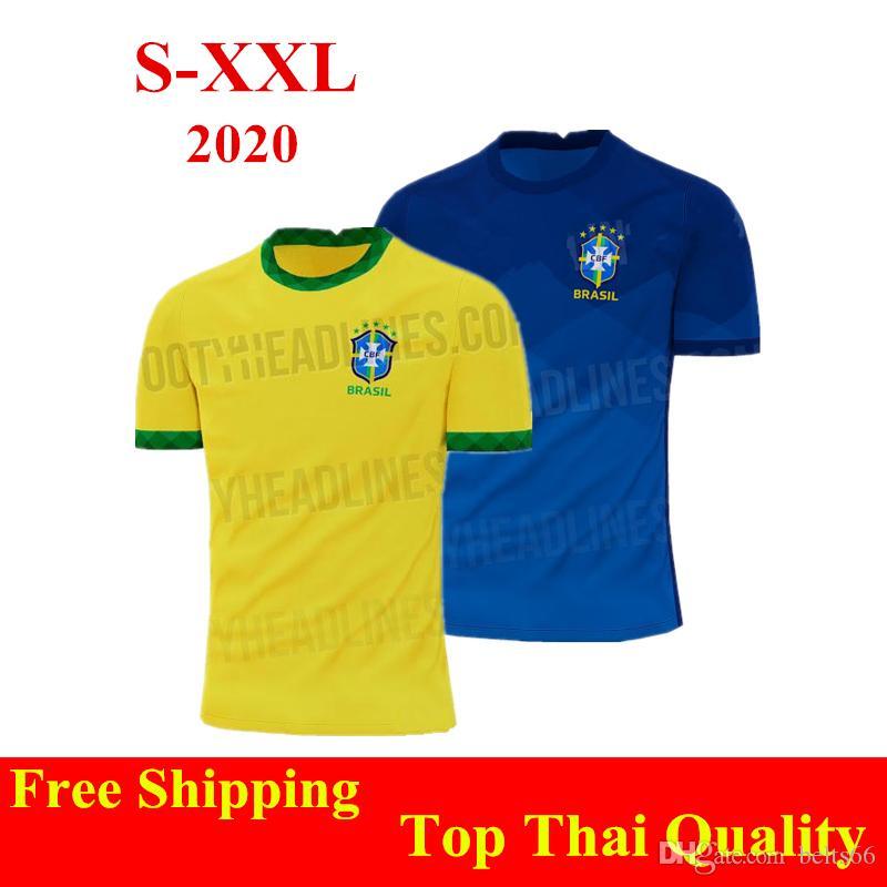 Brazil  jersey shirt Home 2020 football adult S-XXL T-shirt 2020 New