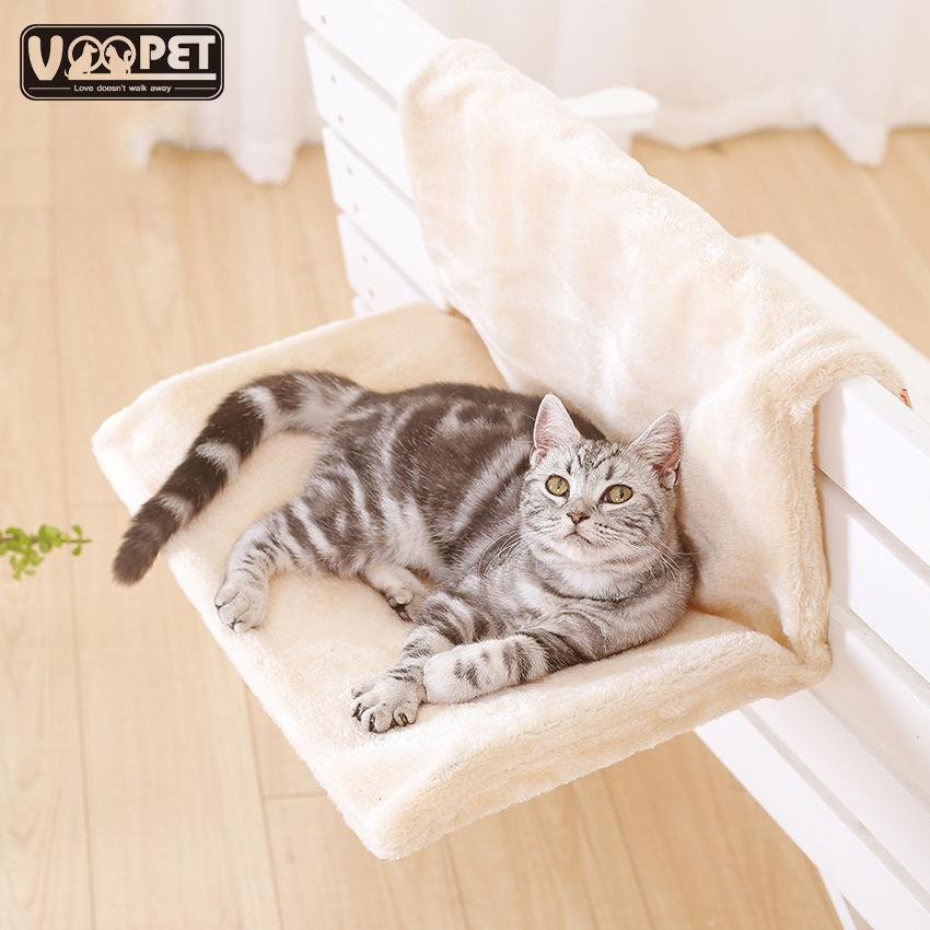 Cat Bed Removable Window Sill Cat Radiator Lounge Hammocks for Cat Kitty Hanging Bed Cosy Carrier Pet Bed Seat Hammock Y200330