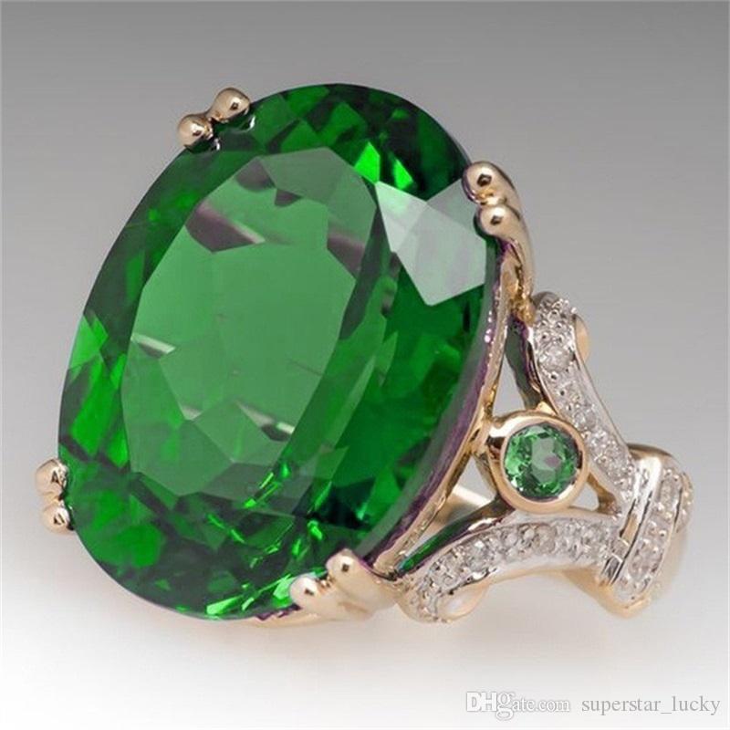패션 레이디의 새로운 조각 다이아몬드 반지 약혼 절묘한 손가락 반지 보석 패션 약혼 제안 큰 거위 계란 드릴 링 전기 도금