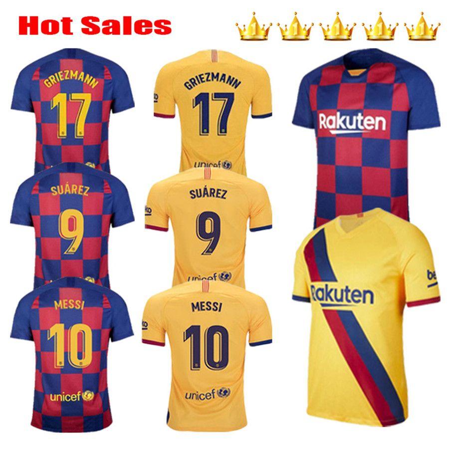 2019 2020 2021 Griezmann 17 Messi 20 21 maglie calcio SUAREZ magliette di calcio MALCOM maillot de foot bambini kit PIQUE Vidal Dembele