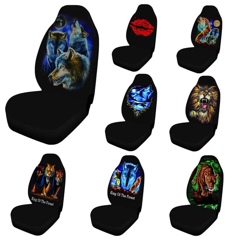Universal Car Seat Cover front Seat Covers printing fabric Custom Auto Interior Car Accessories Car Care Seat Protector F-18