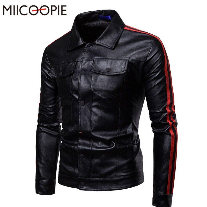 Jaqueta de couro macaco de couro faux miicoopie outono para homens fitness moda macho camurça casaco masculino casaco casaco bomer