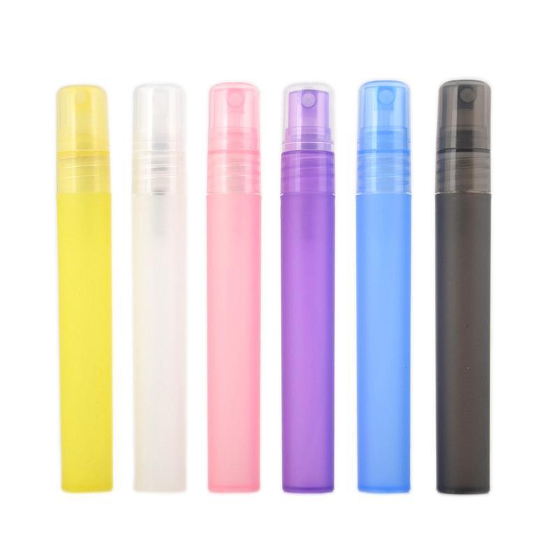 10ml Perfume vazio garrafa plástica Frasco do pulverizador atomizador Mini Perfume Bottles Pen Dividir Amostra composição colorida Ferramentas HHA1378
