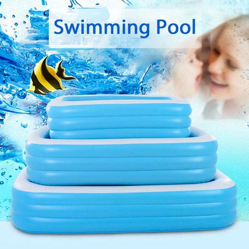 110/130/150cm Square Children Swimming Pool Portable Child Piscina Dry Pool Kids Inflatable Tank Outdoor Toy PVC Cartoon Basin