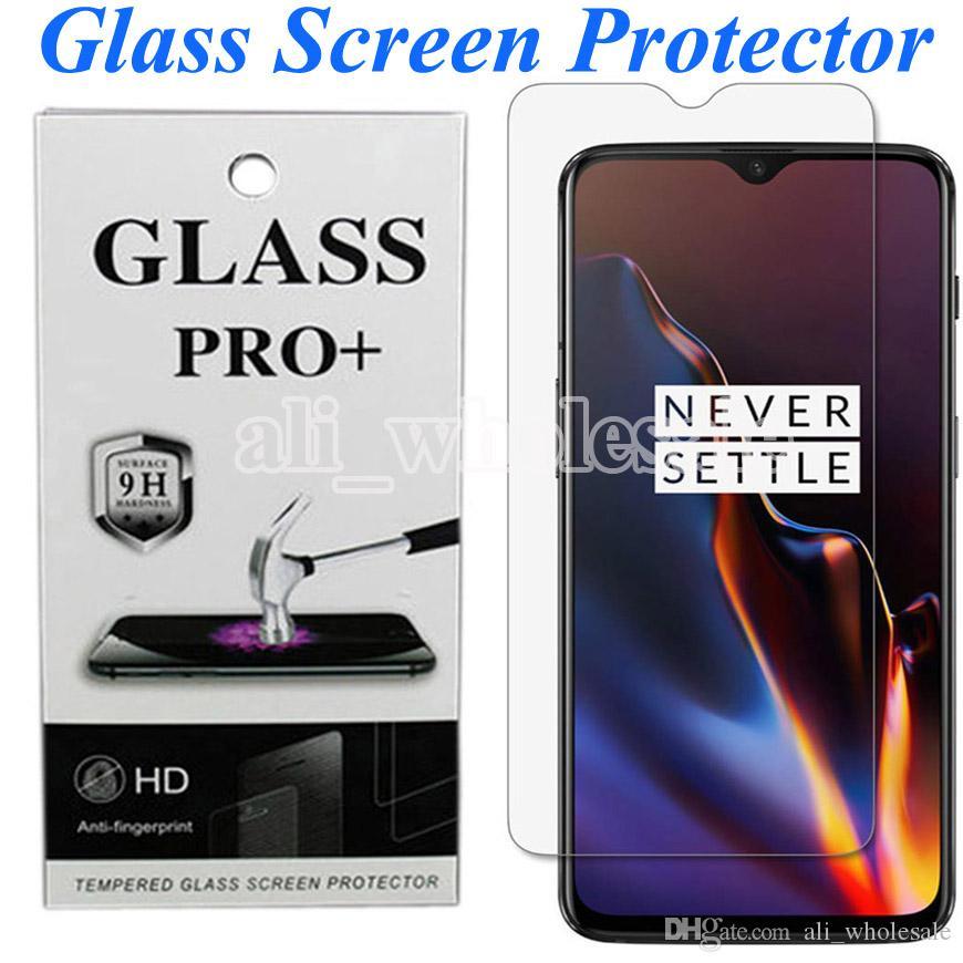 Protector HD rimuovono vetro temperato dello schermo per OnePlus 7T 7 6 6T redmi Nota 7 K20 Pro Xiaomi Mi 9T Pro Pixel 4 XL LG Stylo 5, l'imballaggio al dettaglio