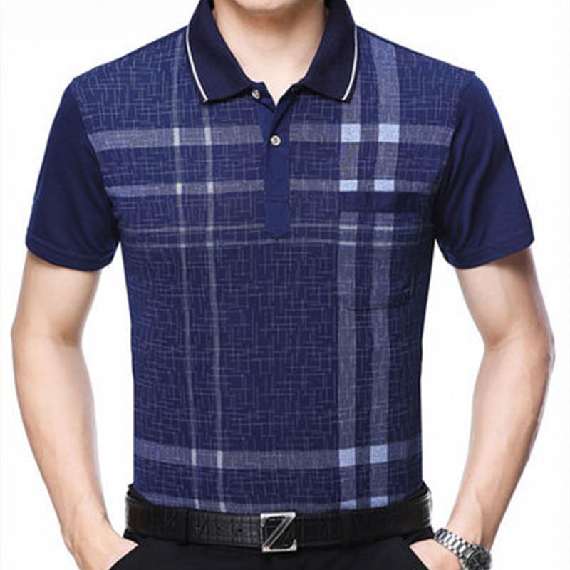 Mens Apressado limitada regular algodão respirável Inglaterra Estilo manga curta Polo Camisas do verão camisa para homens tamanho M-2XL