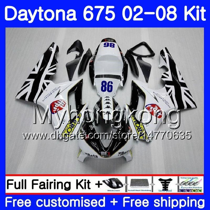 Body For Triumph Daytona 675 2002 2003 2004 2005 2006 2007 2008 322HM.40 Daytona 675 Daytona675 02 03 04 05 06 07 08 Kit carena bianco nuovo