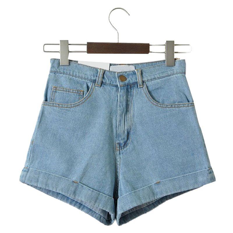 Short taille haute en denim pour femmes sexy vintage de marque Shorts Jeans Denim Femme Feminino Slim Hip Taille Plus