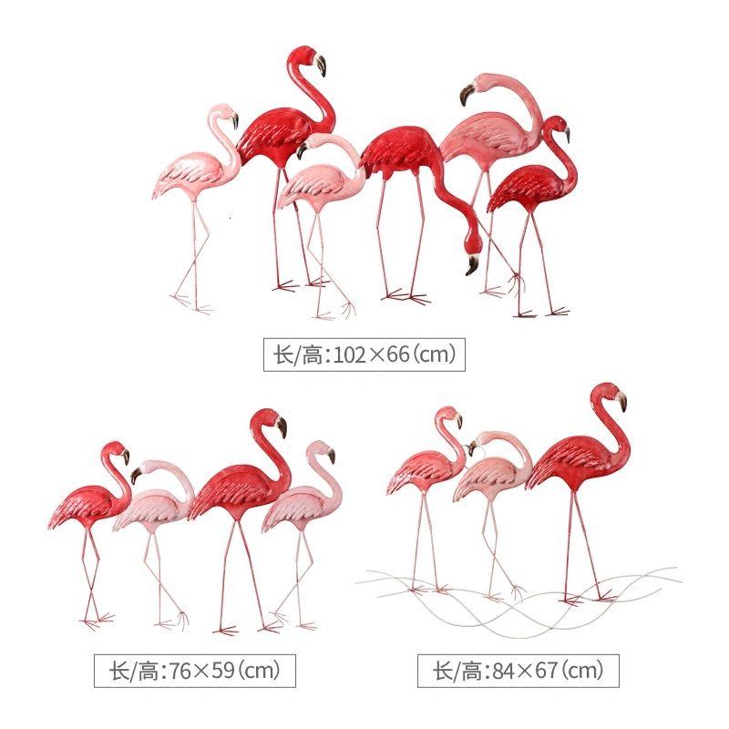 Северная Европа Flamingo Украшение стены гостиной диван фон Ins Оригинальность Главная Мебель Отделка стен вестибюля