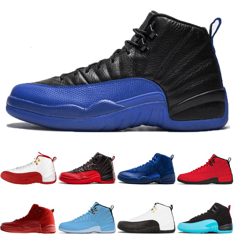 New 2019 12 12s Game Royal Basketball Shoes Fiba Gym Red Flu Game Gamma Blue Taxi Master Designer Mens Sport Sneakers Size 7-13 Ourdoor