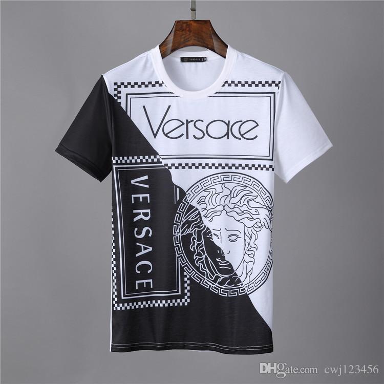 2019 cartas de diseño de la camiseta de algodón de impresión camiseta de los hombres de la ropa de manga corta camiseta de las mujeres camiseta ocasional M 3XL