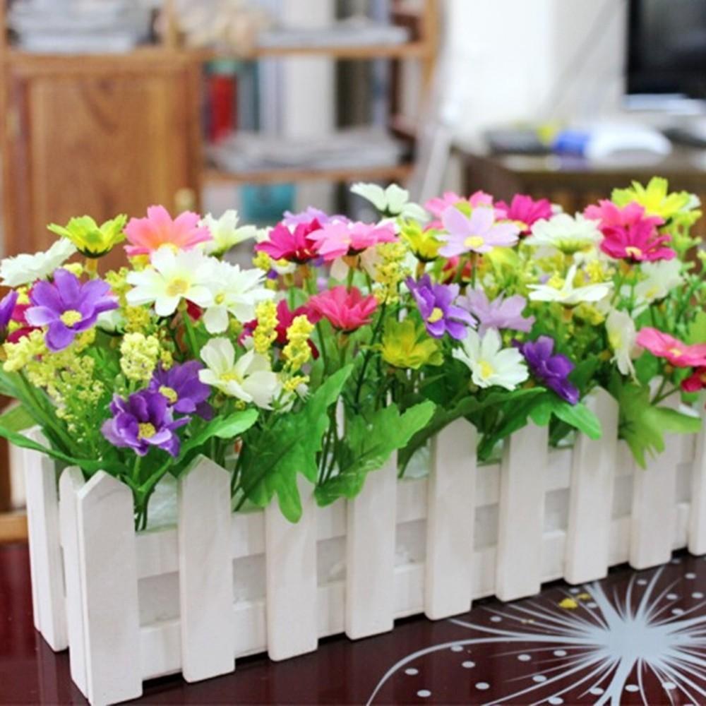 Cerca de 30 cm Madera Jardín Conjunto de la flor de la simulación al por mayor de flores al por mayor de la falsificación de la sala del hogar Decoración de la venta caliente