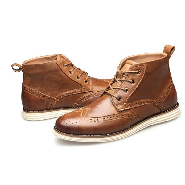 2019 ZFTL Nouveau Hommes Bullock Bottes cuir véritable homme Martins Bottes Casual lacets Big Taille Homme chaussures à la main Chaussures montantes 7