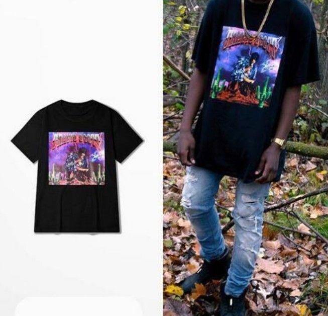 Travis scott t gömlek erkekler kısa kollu hip hop tişört harajuku streetwear punk rock tişörtleri kadın Rihanna pamuk tops