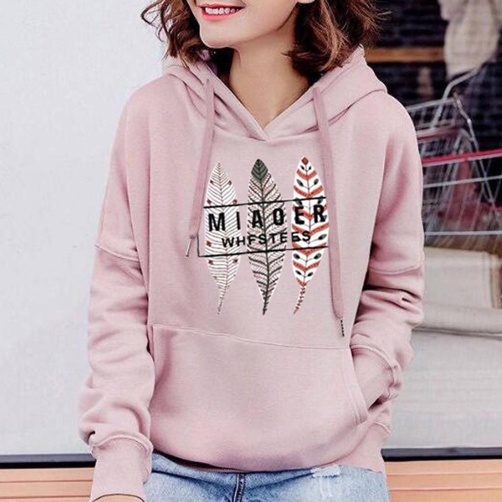 Gótica de gran tamaño mujeres camiseta de las mujeres de impresión sudadera con capucha estilo coreano Streetwear ropa de otoño 2019 Moleton