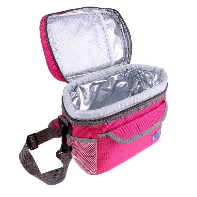 Insulated Cooler Bag Lunch Time Outdoor Sandwich Drink Cool Storage Chilled Zip
