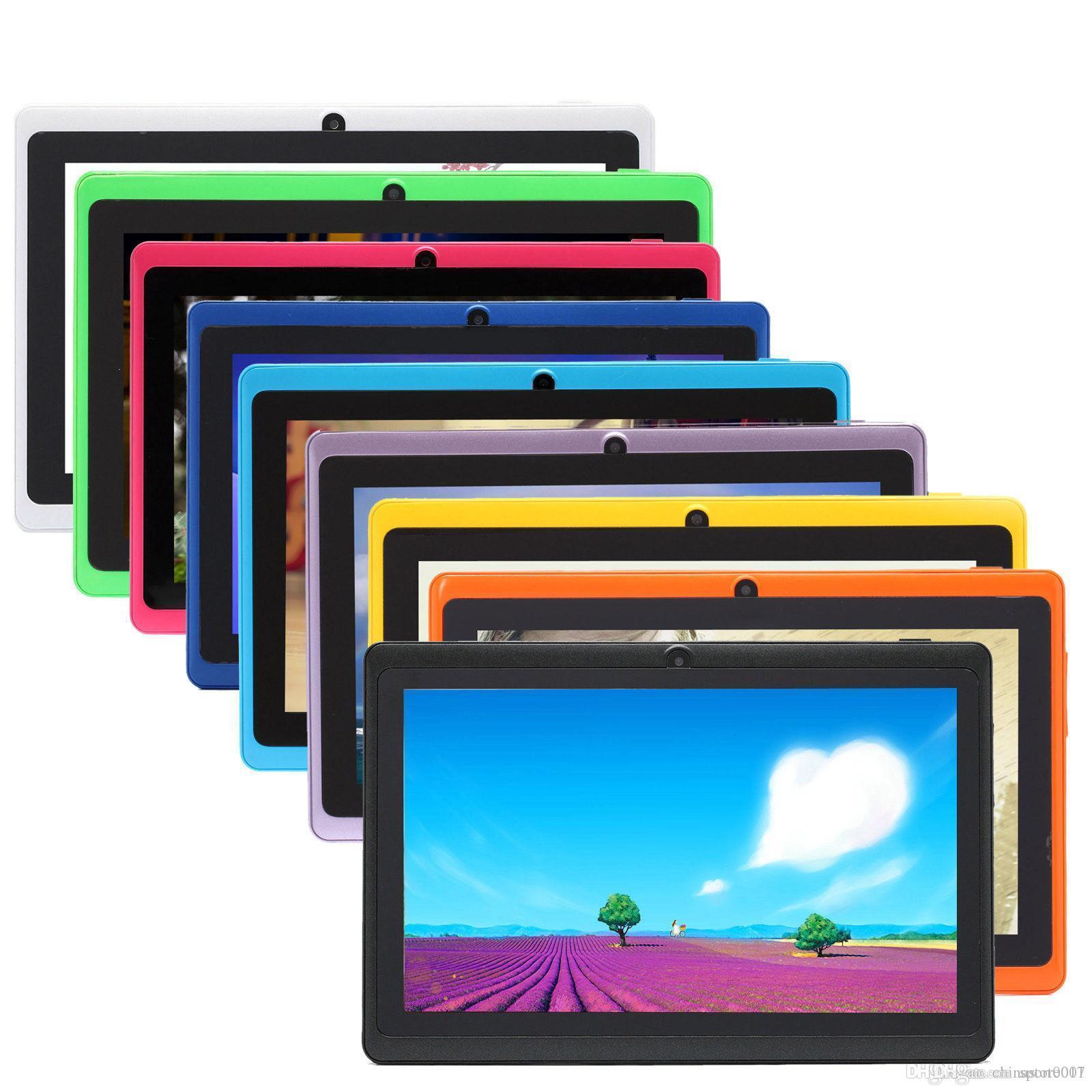 Q88 7 인치 태블릿 컴퓨터 안드로이드 4.4 태블릿 PC 낮은 가격 A33 QUADE 코어 듀얼 카메라 8기가바이트 5백12메가바이트 용량 저렴한 태블릿