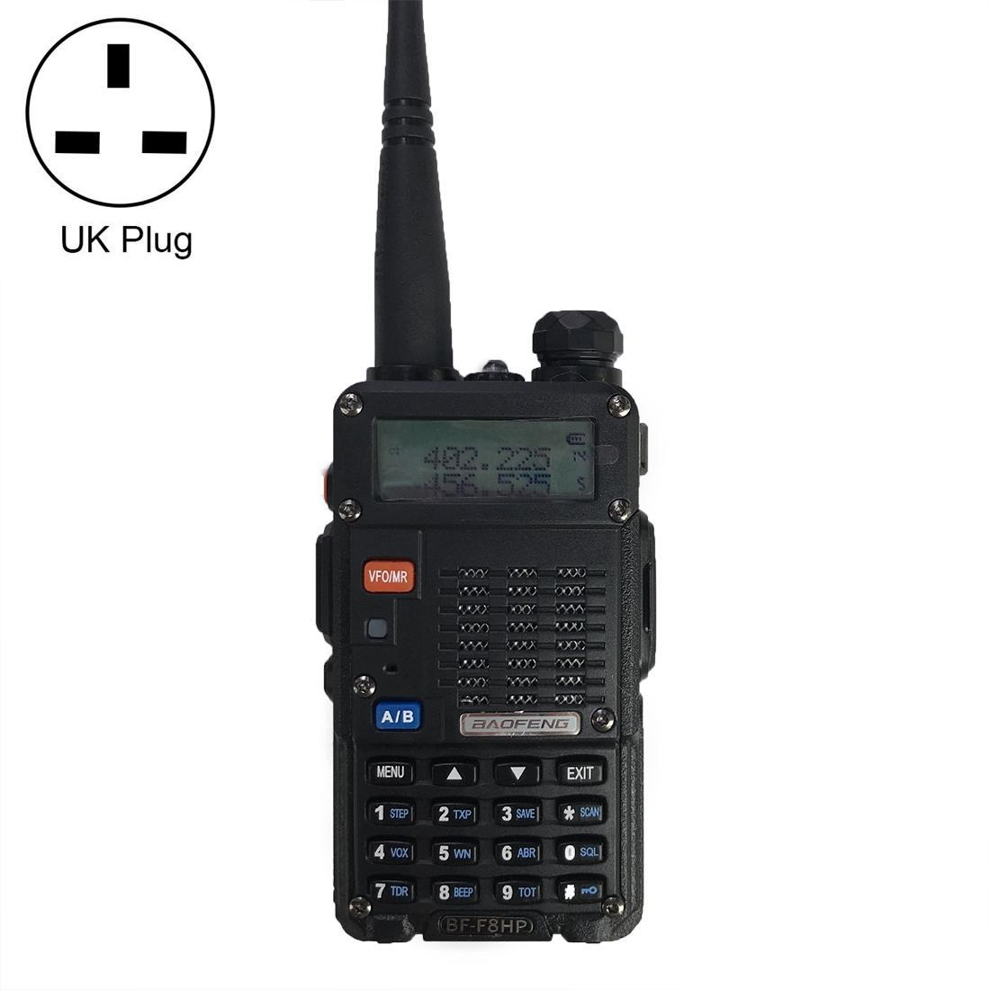 BaoFeng BF-F8HP 8W Dual Band Two-Way Radio VHF UHF Handheld Walkie Talkie, UK Plug