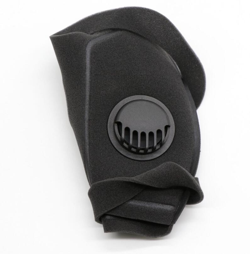 verão máscaras legal rosto com válvula de respirar ar livre Anti Poluição saliva movimento mais seguro máscara de ventilação Poroso Respirador com filtro