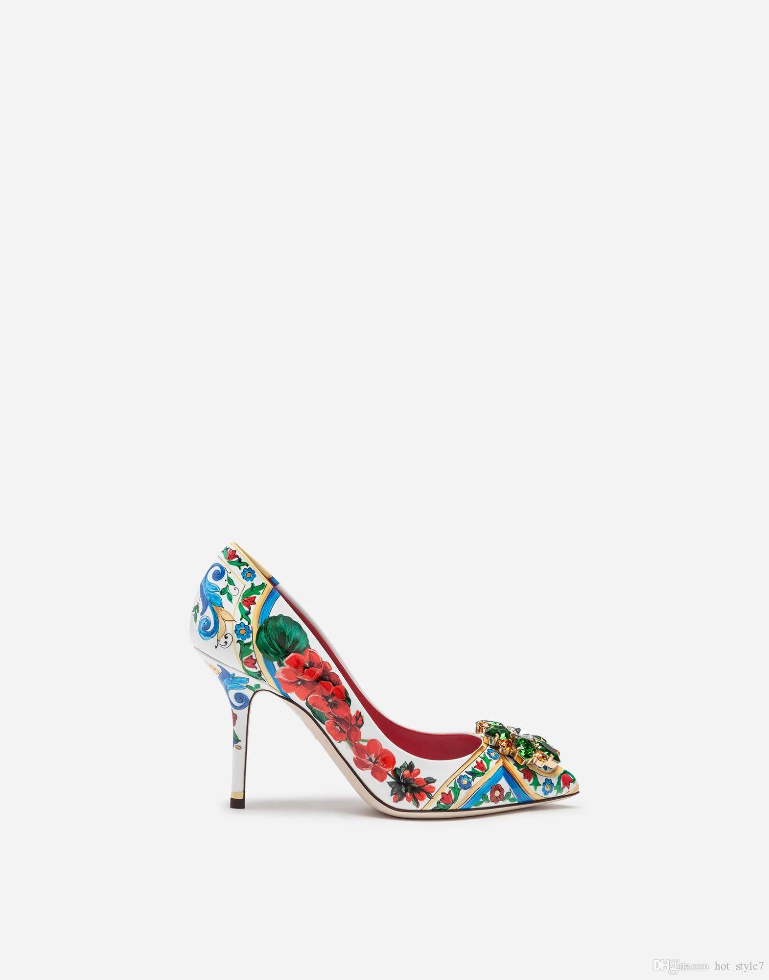 Nuovo stile donna punta a punta bocca superficiale fiore singolo scarpe femal strass tacco a spillo partito scarpe donna matrimonio di alta qualità sexy