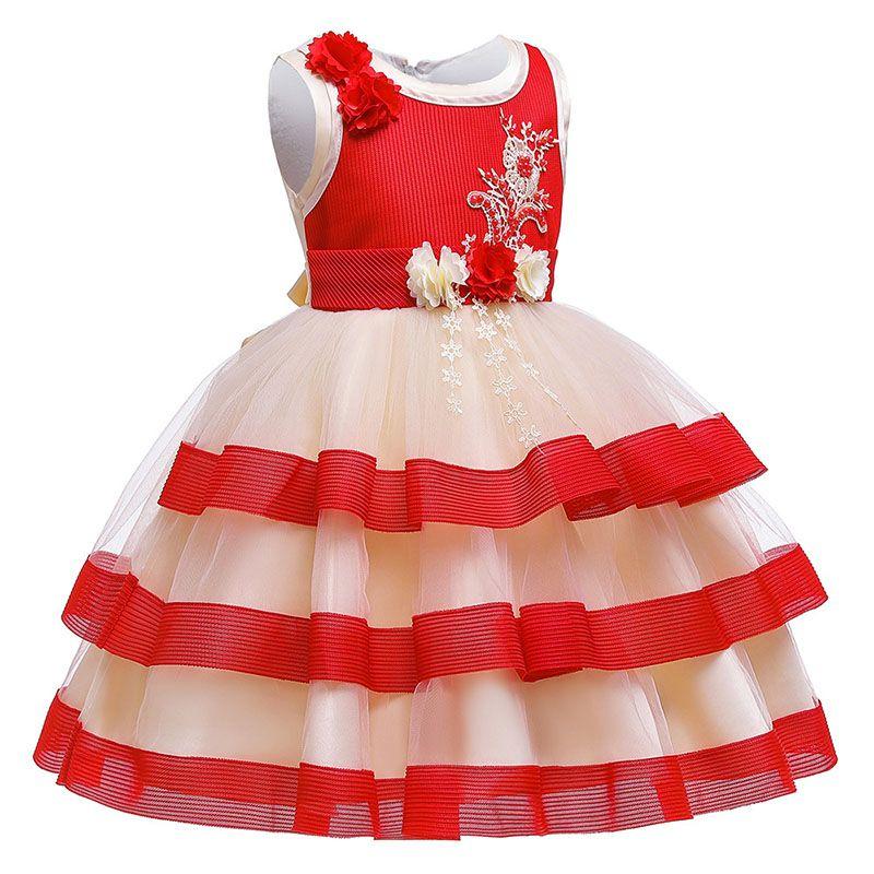 UK Child Kids Girl Princess Dress Summer Casual Holiday Party Dress Sundress KW