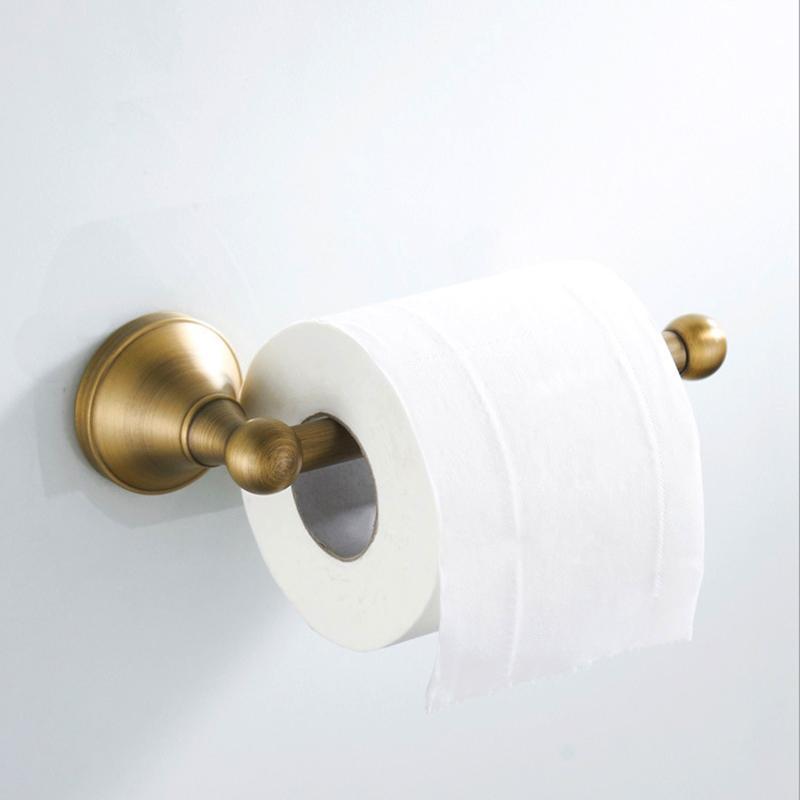 Antiguo WC Portarrollos de bronce baño de oro de papel higiénico toalleros Negro cocina del cromo rollo de papel higiénico de papel Plataforma Blanca