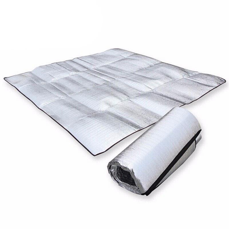 Wasserdichte Aluminiumfolie PE Isomatte faltbare Falte Schlafen Picknick Strand Matratze im Freien Matten-Auflage