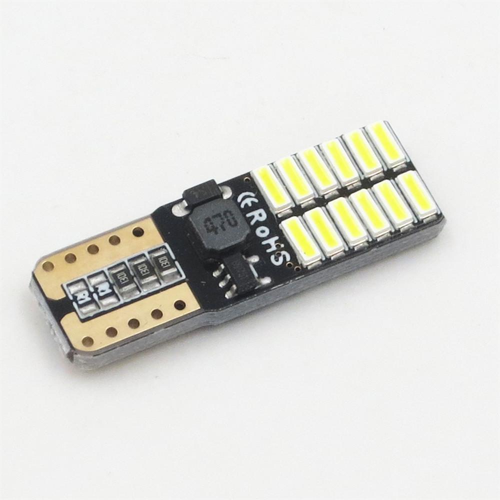Keine Polarität Canbus T10-Lampen mit 4014 SMD 24 LED-Innenbeleuchtung 194 168 W5W LAMP wissen NO OBC ERROR Gelb Rot Blau