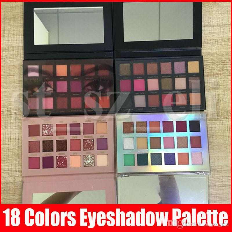 New Beauty Eye Makeup palette 18 colors Eyeshadow Palette matte shimmer Rose eye shadow paletes 5 styles