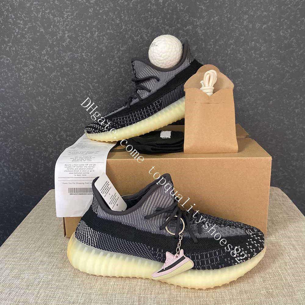 2020 Kanye West de los hombres de los zapatos corrientes de las mujeres deporte zapatilla de deporte ABEZ Asriel azufre Israfil Cinder Desert Sage Marsh Tierra estática V2 reflectante Tamaño 48