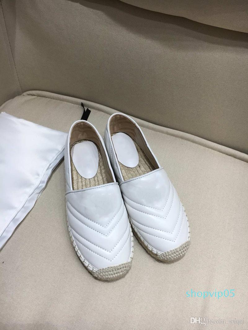Vente Hot New Fashion Designer Femmes Chaussures Designer Espadrille dames Plate-forme confortable Espadrilles Chaussures 4 couleurs Taille 35-41