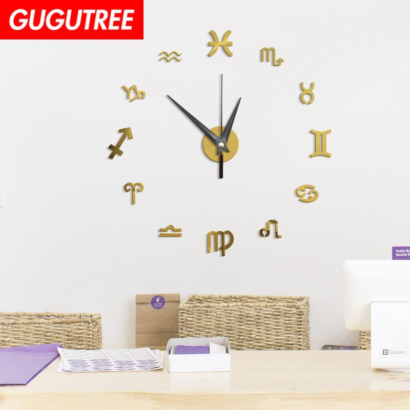 Decorar el hogar Número 3D reloj espejo arte etiqueta de la pared decoración calcomanías pintura mural removible decoración Wallpaper G-117