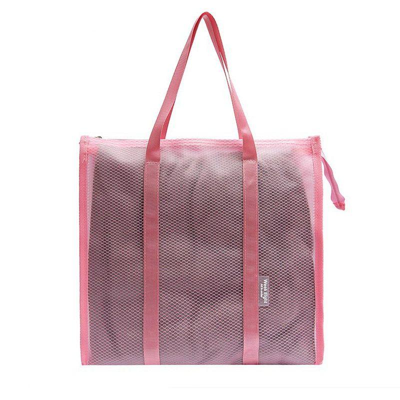 Women PVC Travel Bags Female Washing Bag Cosmetics Storage Beach Handbag Large Capacity Transparent Tote Casual Shoulder Bag