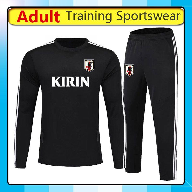 2019 2020 Giappone squadra nazionale di calcio di addestramento sportivo, 2020 pantaloni di calcio Giappone manica lunga formazione Maglie wearshirt Imposta Esecuzione
