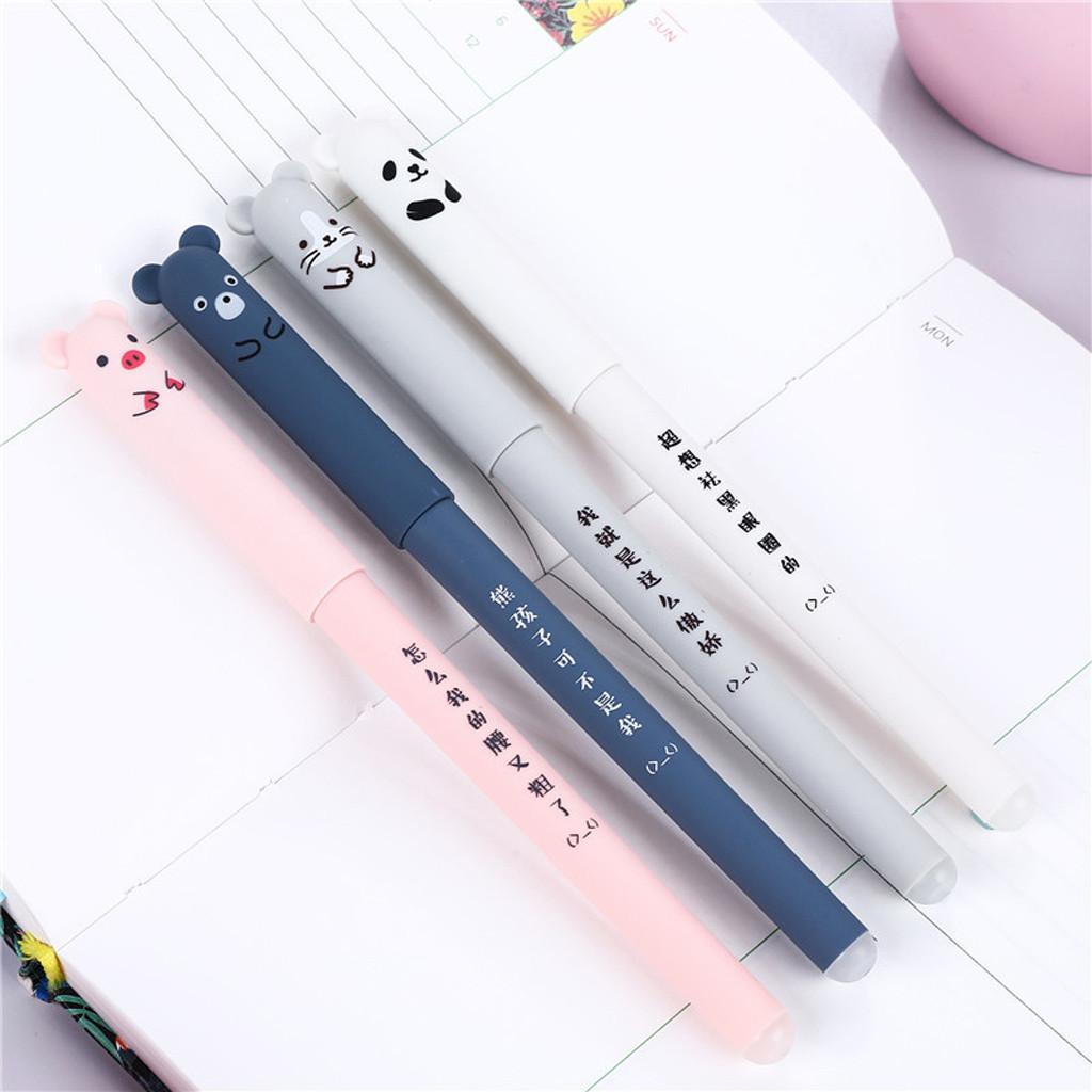 4 x 0,35 mm lindo de Kawaii dibujos animados del gato de tinta gel bolígrafo de tinta azul Estudiante Plumas Para la Escuela de Escritura de artículos de papelería de oficina