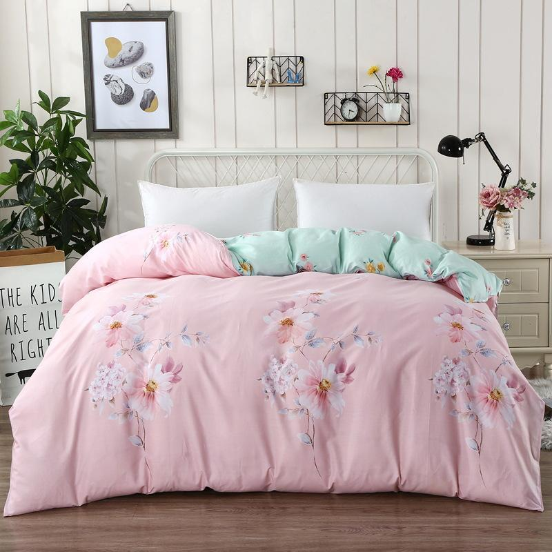 Imitation Silk Bed Pillowcase Modern Contracted Style Bedding Close Skin Silk White Quilt Set King Queen Size Sell Like Hot