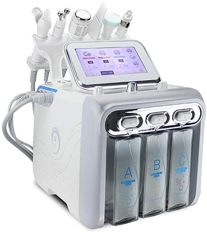 6 في 1 الهيدروجين الأكسجين فقاعة صغيرة آلة الجمال الترا مايكرو الهيدروجين الأكسجين الصغيرة فقاعة الفنية الجلد آلة تجديد لديب
