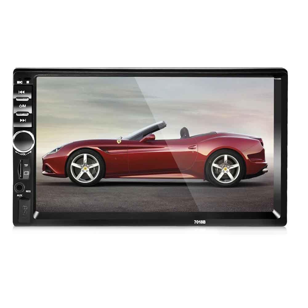 7018B 7 Inch Bluetooth V2.0 Car Audio Stereo MP5 Player 12V Auto Video Support AUX FM USB Remote Control