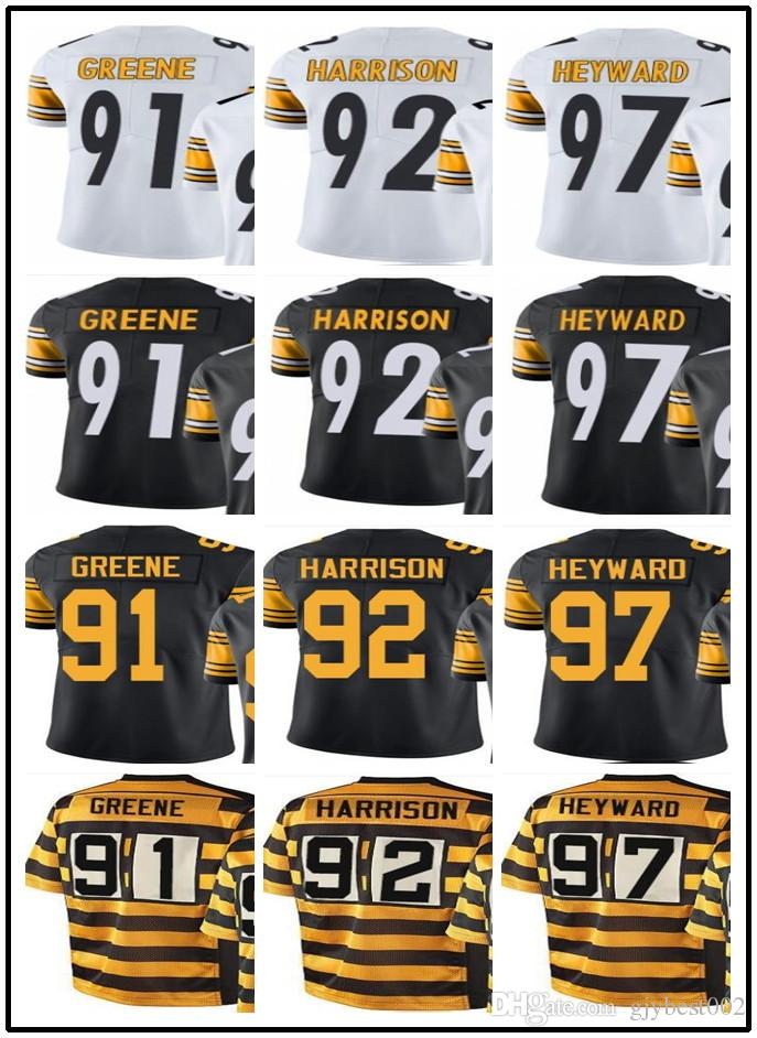 wholesale dealer 6349d 4ffd9 2019 Custom Pittsburgh Steelers Jerseys#91 Kevin Greene 92 James Harrison  97 Cameron Heyward Jerseys#YOUTH#Men'S Limited Rugby Jerseys From ...