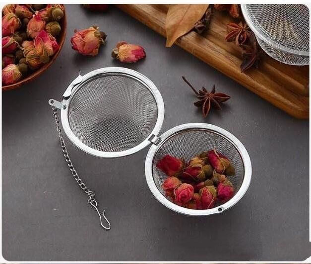 Acciaio inossidabile 304 mesh sfere di tè 5cm Tea Infuser colini e filtri Intervallo diffusore per Tea Cucina sala Strumenti Bar